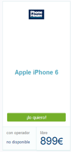 Precio Iphone 6